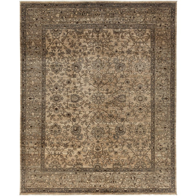 """Ziegler Hand Knotted Area Rug - 8'1"""" X 9'10"""" For Sale"""
