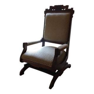 19th Century Antique Eastlake Victorian Style Rocking Chair For Sale