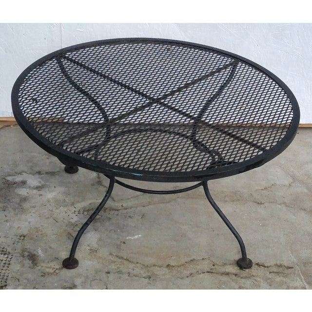 Woodard Vintage 1950s Sculptural Iron Coffee Table - Image 5 of 5