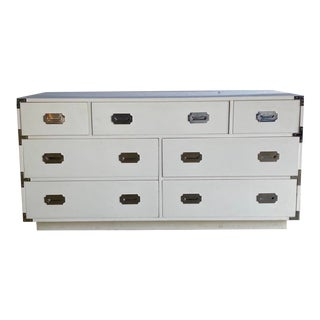 Contemporary Dixie Campaigner Lowboy Dresser For Sale