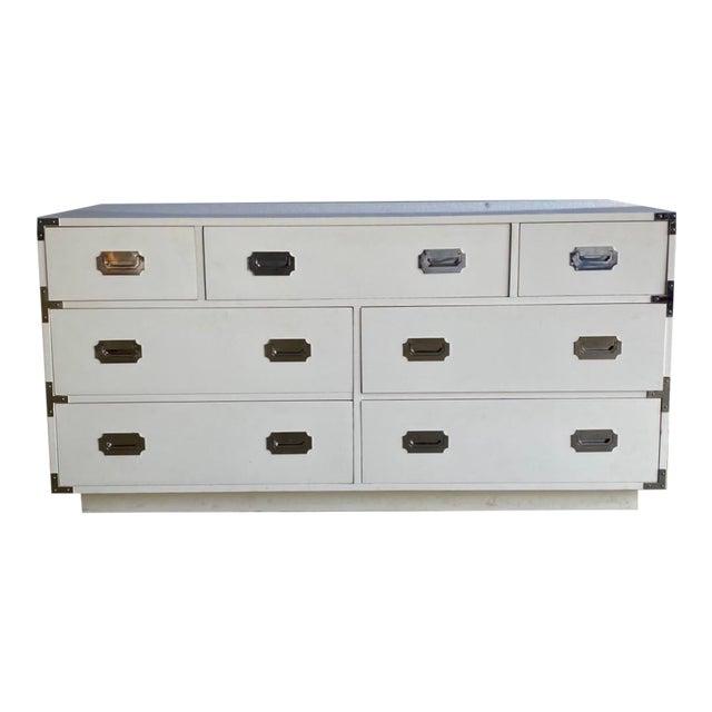 Contemporary Dixie Campaigner Lowboy Dresser For Sale