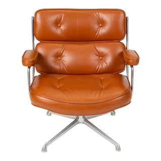 Ray + Charles Eames Time Life Lobby Chair in Cognac Leather For Sale
