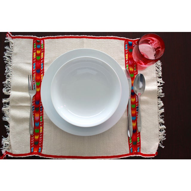 Hand Embroidered Multicolor Placemats - Set of 6 - Image 4 of 7