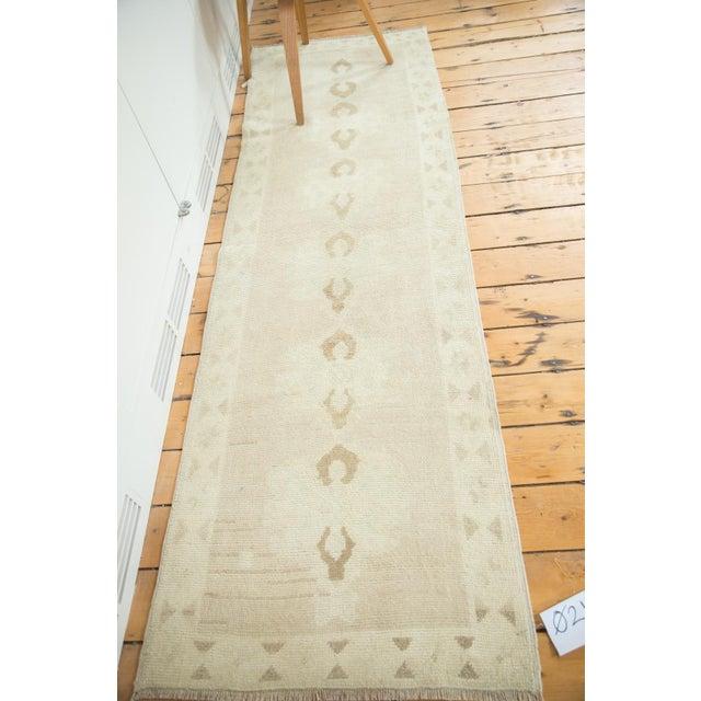 """Islamic Vintage Oushak Rug Runner - 2'5"""" X 7'9"""" For Sale - Image 3 of 7"""