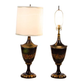 Maitland Smith French Louis XVI Style Table Lamps - a Pair For Sale