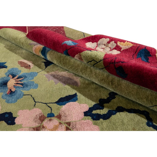 Art Deco Early 20th Century Antique Chinese Art Deco Rug For Sale - Image 3 of 8