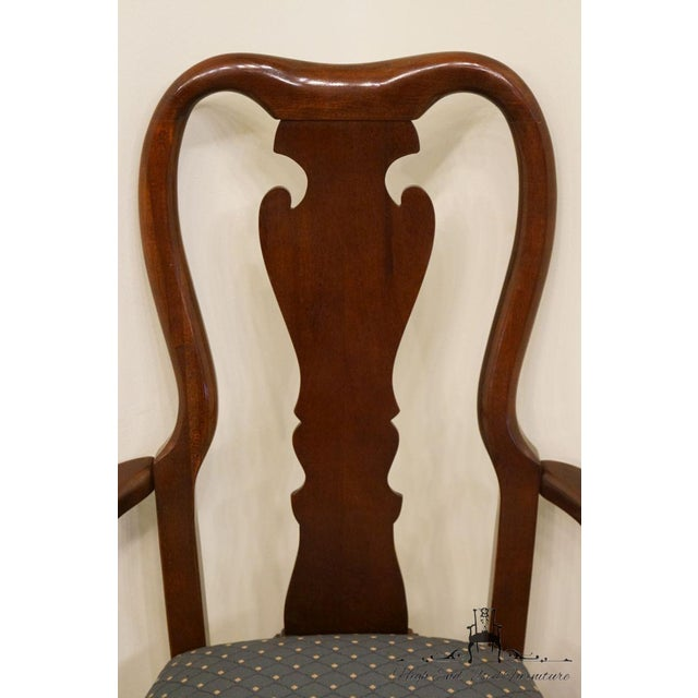 Late 20th Century Vintage Thomasville Furniture Collectors Cherry Arm Chair For Sale In Kansas City - Image 6 of 13