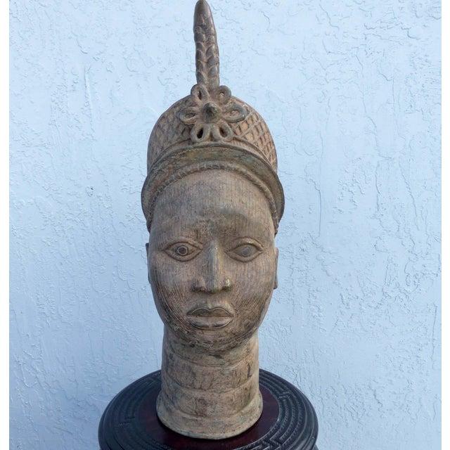 Bronze Head of an Ife Queen Mother - Image 2 of 9