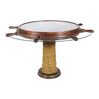Ship's Wheel Serving Table