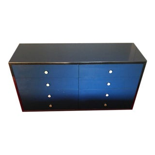 1970s Mid-Century Modern Thomasville Blue Credenza For Sale