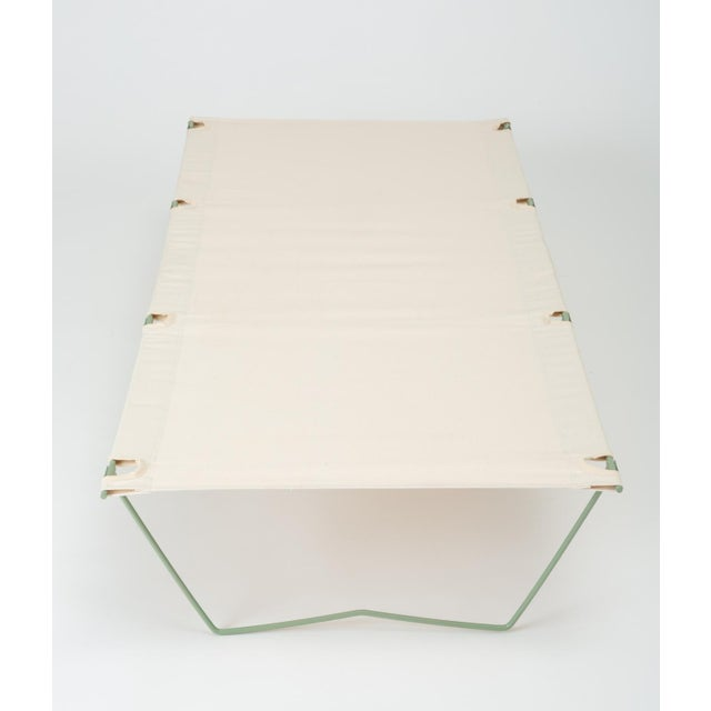 Canvas Army Cot or Camp Bed With Canvas Sling For Sale - Image 7 of 11