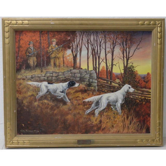 """John Lawrence Murray """"The Hunt"""" Original Oil Painting C.1941 For Sale - Image 9 of 9"""