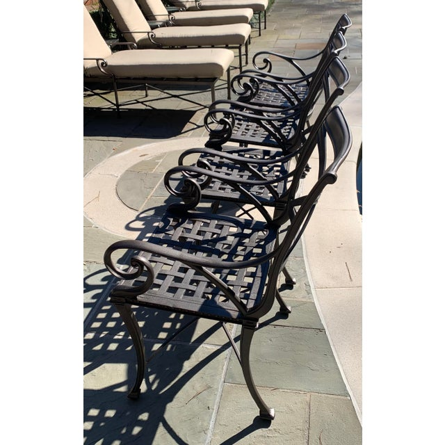 Woodard Landgrave Cast Classics Landgrave Patio Porch Outdoor Dining Chairs - Set of 4 For Sale In Atlanta - Image 6 of 9