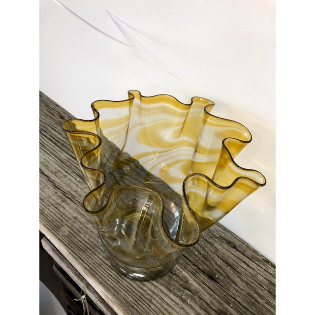Art Deco Large Hand Blown Art Glass Urn For Sale - Image 3 of 5