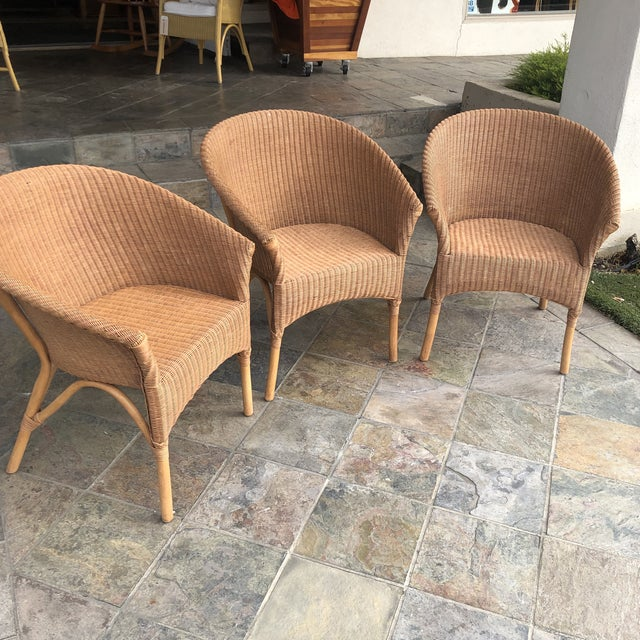 2010s Palecek Rattan Bistro Chairs - Set of 3 For Sale - Image 5 of 9