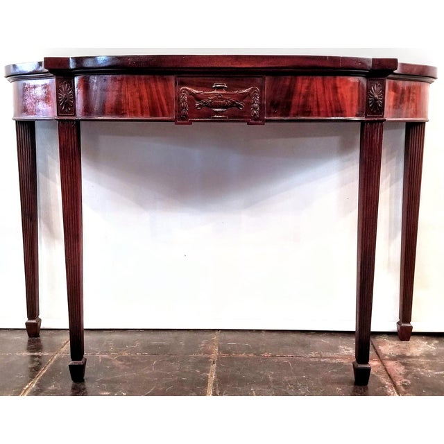 Wood George III Neoclassical Style Mahogany Console Table For Sale - Image 7 of 7