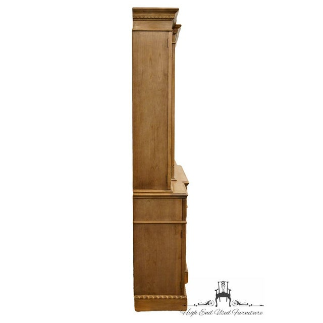 """Saginaw Furniture Country French Regency 72"""" Secretary Display China Cabinet For Sale - Image 11 of 13"""