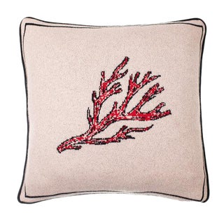 Fee Greening - Fire Coral Cashmere Pillow For Sale
