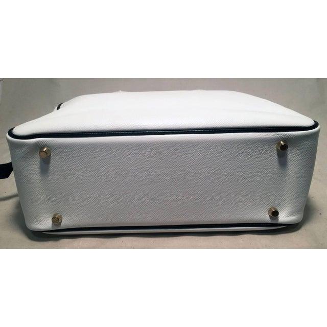Hermès Hermes Black and White Veau Grain Leather Plume Tote Handbag For Sale - Image 4 of 9