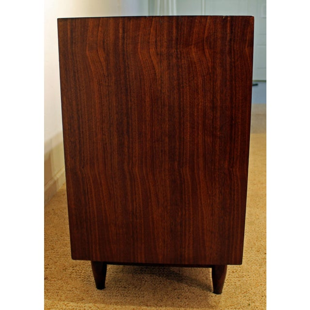 Mid-Century Danish Modern Walnut Sliding Door Floating Base Credenza - Image 5 of 11