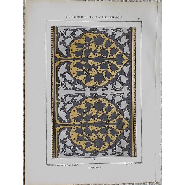 Ornamental Design Folio Size Chromolithograph - a Pair - Image 3 of 4