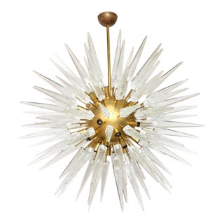 Contemporary Radiance Glass Spike Pendant For Sale