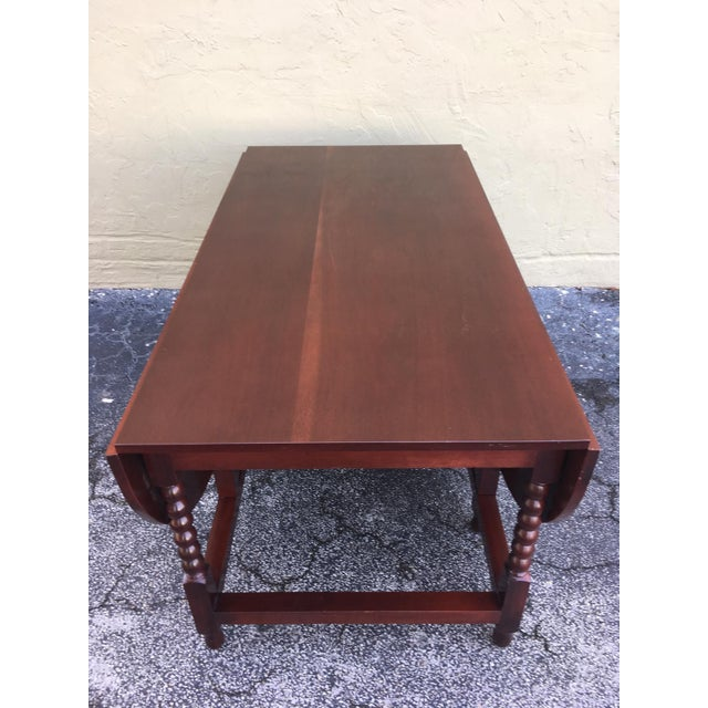 American Sheraton Cherry Acanthus Carved Drop-Leaf Table, Circa 1820 For Sale - Image 10 of 12