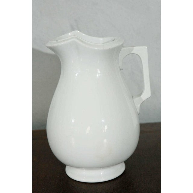19th Century English White Ironstone Pitchers - Individual For Sale - Image 5 of 9