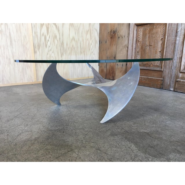 Aluminum and Glass Propeller Table by Knut Hesterberg For Sale - Image 9 of 9