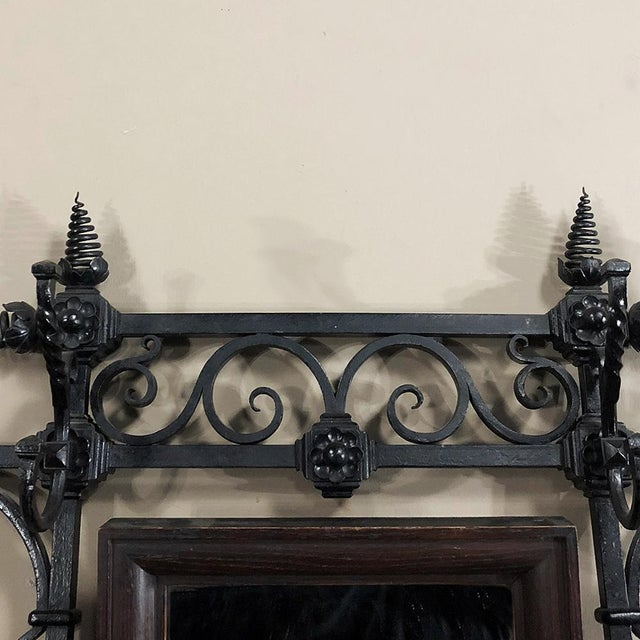 19th Century Wrought Iron Hall Tree For Sale - Image 4 of 12