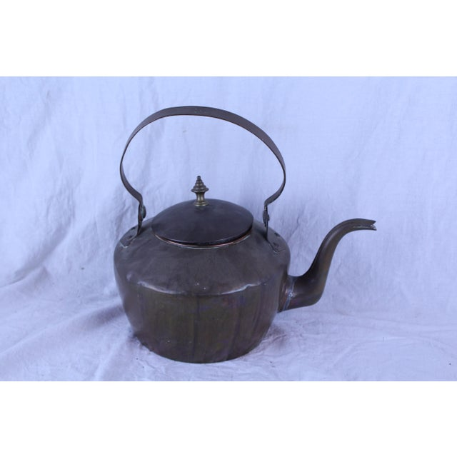 Early 20th Century 20th Century Rustic Copper Tea Kettle For Sale - Image 5 of 5