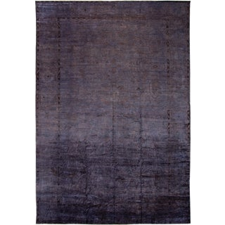 21st Century Modern Overdyed Wool Rug 12 X 18 For Sale