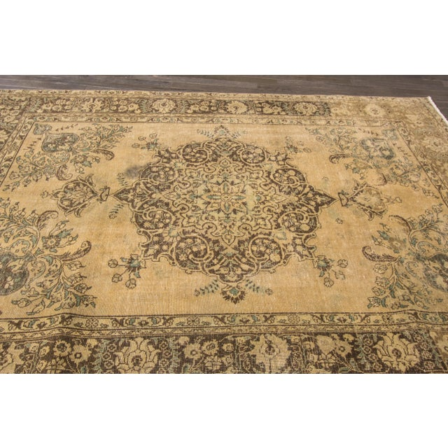 "Apadana Vintage Tabriz Rug - 6'6"" x 9'3"" For Sale - Image 5 of 7"
