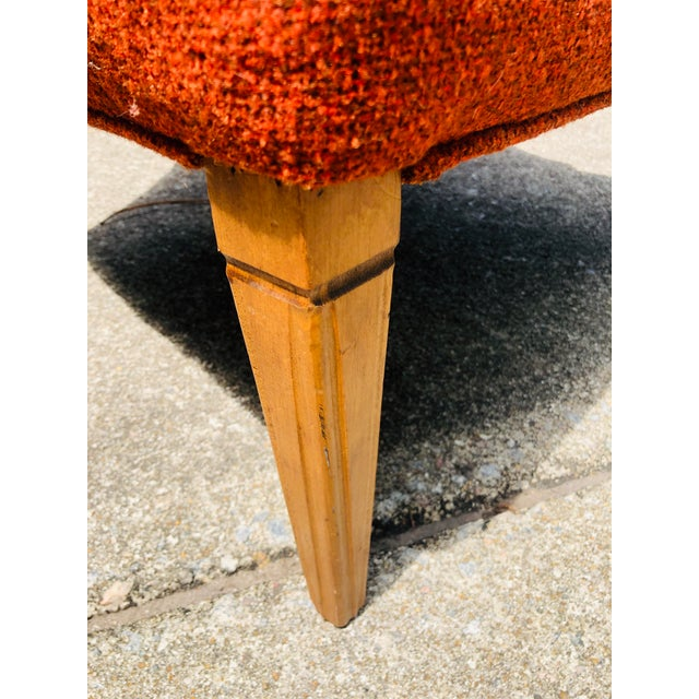 Mid-Century Modern Burnt Orange Chairs - a Pair For Sale - Image 9 of 13