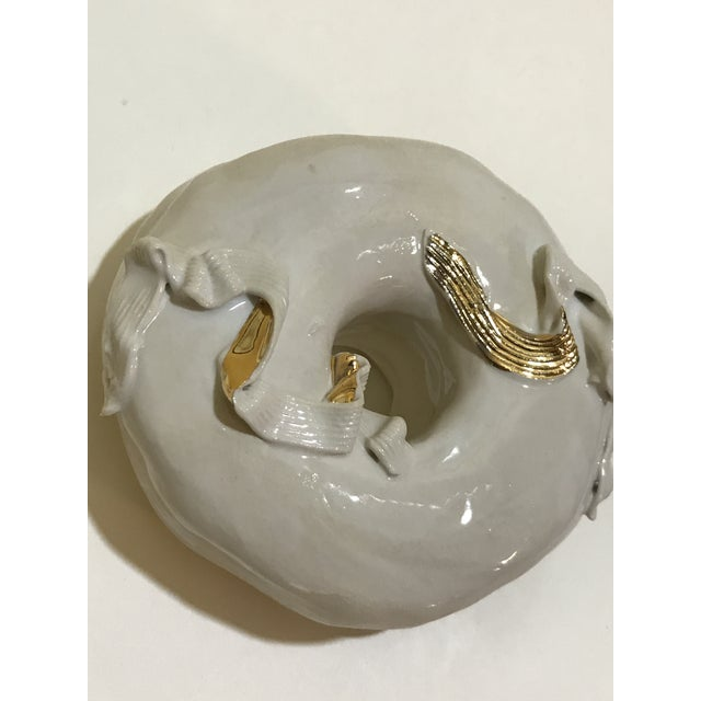 2010s Ceramic Wall Donuts - Set of 3 For Sale - Image 5 of 10