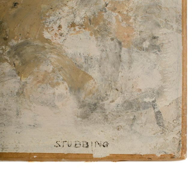 Mid 20th Century Mid 20th Century Abstract Oil Painting by Newton Haydn Stubbing For Sale - Image 5 of 13