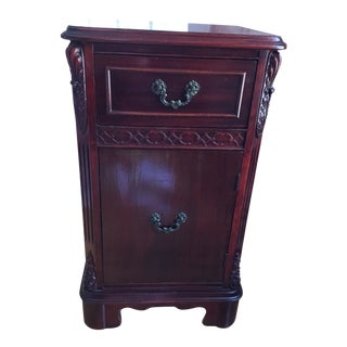 1940s Traditional Mahogany Night Stand/End Table For Sale