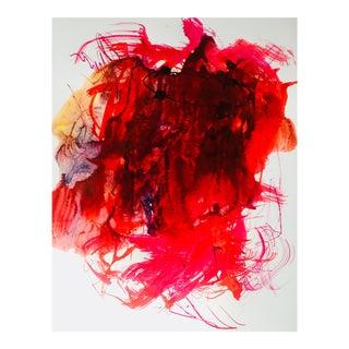 """Asia"" Original Fine Art Ink Brush Painting on Paper by Erik Sulander"