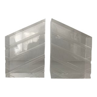 Vintage Astrolite Ritts Lucite Bookends - a Pair For Sale