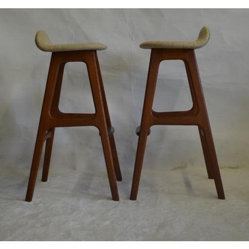 Eric Buch Teak Bar Stools - A Pair - Image 4 of 5