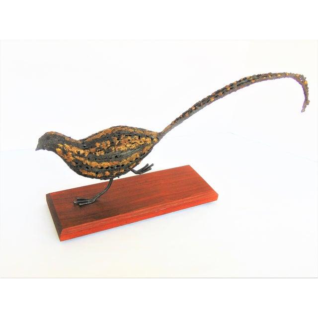 Mid-Century Brutalist Pheasant Sculpture - Image 2 of 5