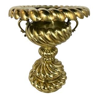 Arabic Hammered Brass Braiser Set For Sale
