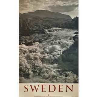 1950 Vintage Sweden Travel Poster For Sale