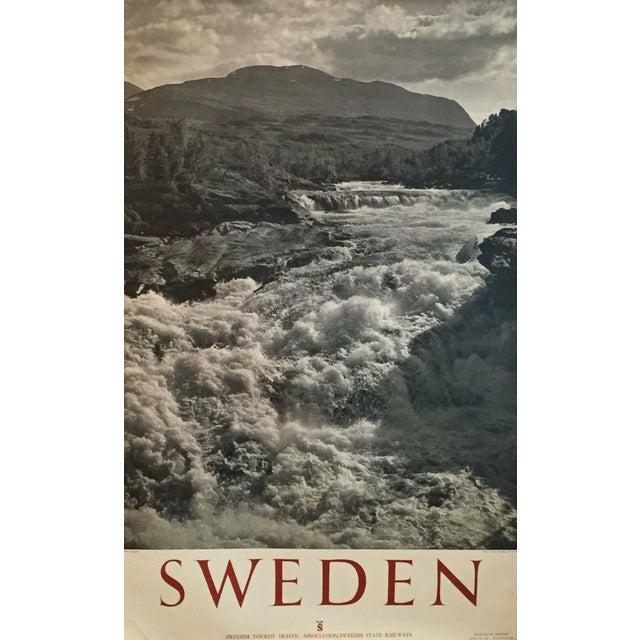 1950 Vintage Sweden Travel Poster - Image 1 of 5