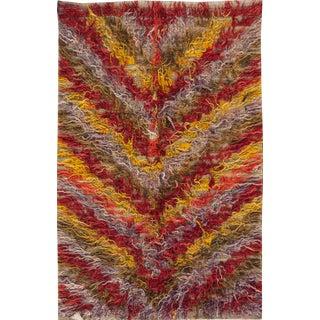 Mid 20th Century Vintage Tulu Wool Rug For Sale