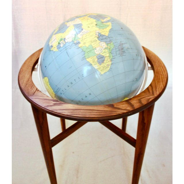 1960s A J Nystrom & Co. 1968 Standing Library Globe For Sale - Image 5 of 12
