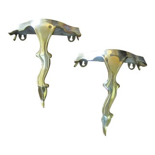 Mid-Century French Chinoiserie Wall Brackets - a Pair For Sale