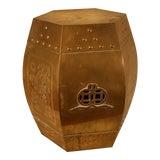 Image of Vintage Brass Oriental Garden Stool For Sale