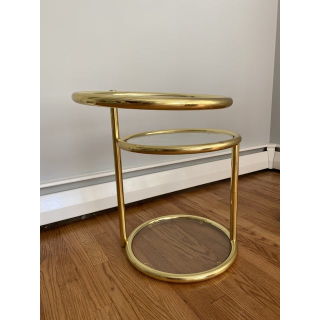 Mid 20th Century Hollywood Regency Brass and Glass Cocktail Tables - a Pair For Sale - Image 5 of 13