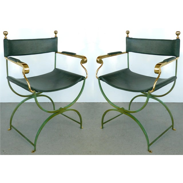 Brass Director's Chairs by Valenti, Spain- 4 Pairs Available For Sale - Image 11 of 11